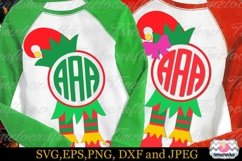 Christmas Elf Hat and Legs, Elf's Boots Frame Monogram Product Image 1