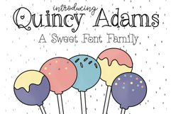 Quincy Adams - A Sweet Hand Written Font Product Image 1