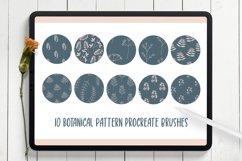 Botanical Seamless Pattern Procreate Brushes Product Image 1