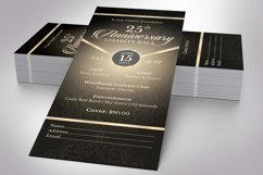 Anniversary Banquet Ticket Bundle Word Publisher Template Product Image 3