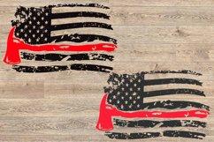 Firefighter flag svg, firefighter svg, US flag svg, 1678 Product Image 2