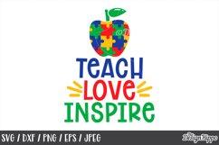 Autism Teacher, SVG Bundle of 10 Designs, DXF PNG Cut Files Product Image 4