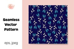 Blue Lily Flowers Digital Paper, Seamless Pattern Product Image 1