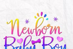 Newborn Baby Boy New Arrival Coming Home Sublimation Sign Product Image 2