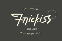 Web Font Frickiss - Monoline Handrawn Font Product Image 1