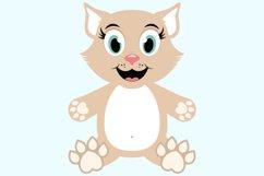 Cute Cat SVG Cut Files, PNG cat clipart Product Image 5