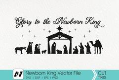 Nativity Svg, Glory to the Newborn King Svg, Christmas Svg Product Image 3