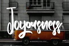 Web Font Joyousness - Handwritten Font Product Image 1