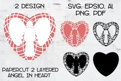 Paper cut | Layered papercut | Angel in Heart Product Image 1
