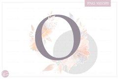 Letter O Floral MONOGRAM - elegant wedding flower initial Product Image 2