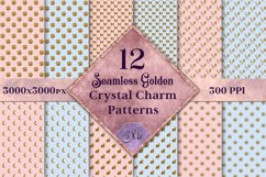 Seamless Golden Crystal Charm Patterns - 12 Images Product Image 1
