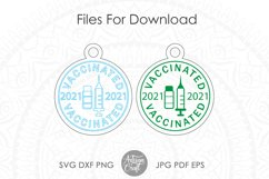 Vaccinated 2021 SVG, laser cut ornaments Product Image 4