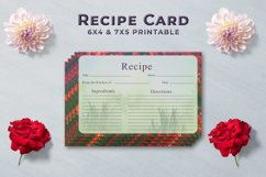 Artistic Recipe Card Template V1 Product Image 1
