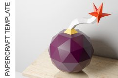 PDF Template of Canon Bomb Papercraft / 3D Papercraft Product Image 2