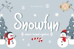 Snowfun Cute Winter Font Product Image 1