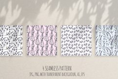 Hand drawn Lavender clipart. Valentines lavender heart. Product Image 2