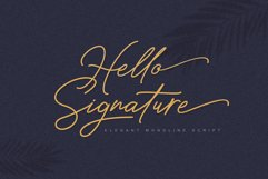 Hello Signature Font Product Image 1