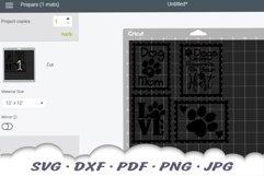 Dog Mom Postage Stamps SVG Bundle DXF Cut Files Product Image 2