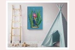 Girl Underwater Wall Decor - Printable Wall Art - Kids Room Product Image 3