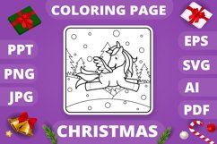 KDP Unicorns Christmas Coloring Book for Kids - 30 Pages Product Image 2