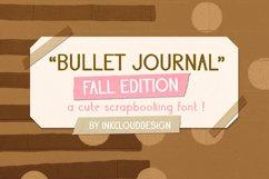 Fall Script Bullet Journal Font | Autumn Planner Scrapbook Product Image 1