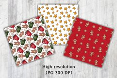 Christmas & New year Digital papers JPG PNG Seamless pattern Product Image 6