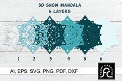3d Layered Snow Mandala - SVG Product Image 2