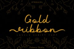 Gold Ribbon   Web Font Product Image 1
