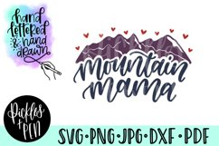 mountain mama svg - mom cut file Product Image 1