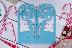 Christmas Reindeer Invitation cutting file Product Image 2