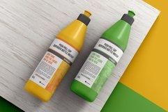 Push Pull Cap Dispenser Bottle Mockup Product Image 1