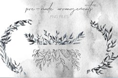 Smokey Watercolor Botanical Leaves - PNG and SVG Artwork Product Image 2