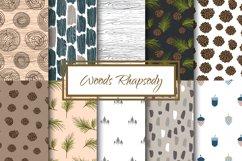 Woods Rhapsody Seamless Patterns Product Image 1