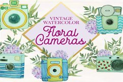 Floral Watercolor Vintage Cameras Product Image 1