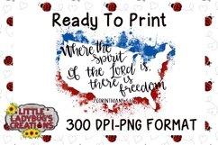 Freedom USA Splatter 300DPI PNG Printable Digital Design Product Image 1