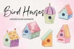 Birdhouse Sprint Clipart Watercolor Elements Pretty Product Image 1