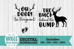 Pregnancy Announcement svg | Baby announcement, Oh deer svg Product Image 3