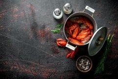 20 Photos Delicious cooked crayfish. Backgrounds. Product Image 5