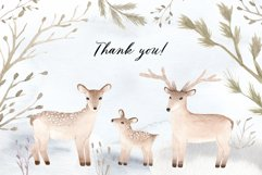 Watercolor Christmas Deers Cliparts Product Image 4