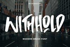 Web Font Withhold - Modern Brush Font Product Image 1