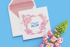Floral wreath svg, Mothers Day SVG, Floral Frame Svg, Spring Product Image 2