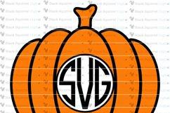 Pumpkin Monogram and Split Frames SVG Bundle Product Image 5