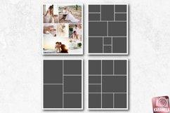 8x10 Photo Collage Photoshop Templates Product Image 1
