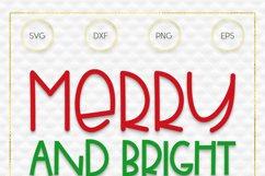 Merry and Bright SVG File Product Image 3