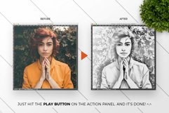Pencil Drawing Photoshop Action Product Image 2