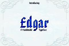 EDGAR, Handmade Gothic Typeface Product Image 1