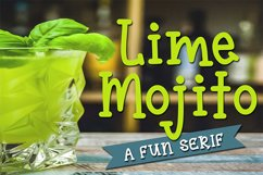 Lime Mojito - A Fun Serif Font Product Image 6