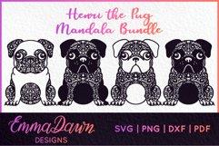HENRI THE PUG DOG SVG MANDALA ZENTANGLE BUNDLE 4 DESIGNS Product Image 1