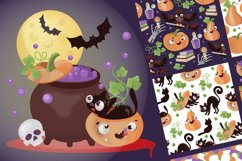 CRAZY HALLOWEEN Hand Drawn Flat Style Vector Set Product Image 5