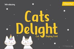 Cats Delight - Cat Display Font Product Image 1